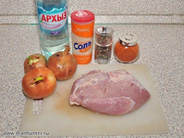 Шашлык из свинины в минеральной воде рецепт с пошагово