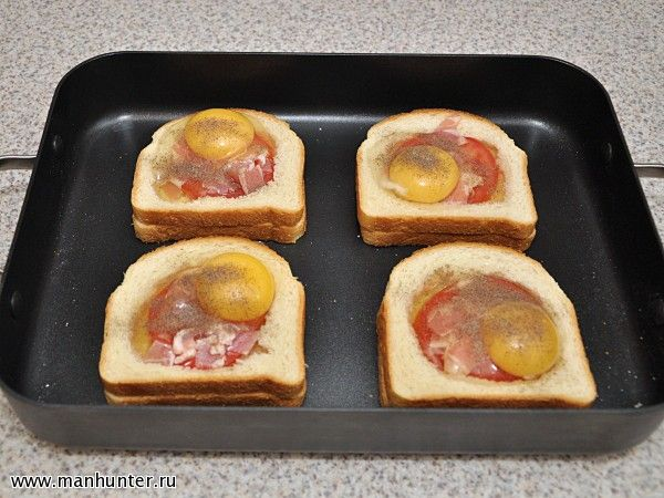 Горячие бутерброды в духовке из батона
