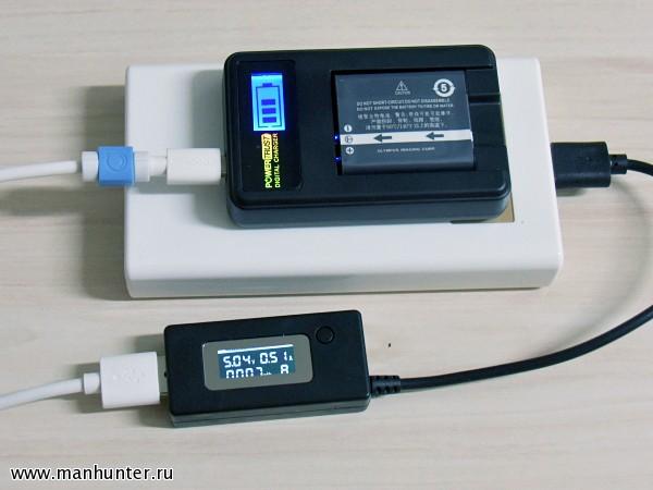 Зарядка аккумулятора от PowerBank