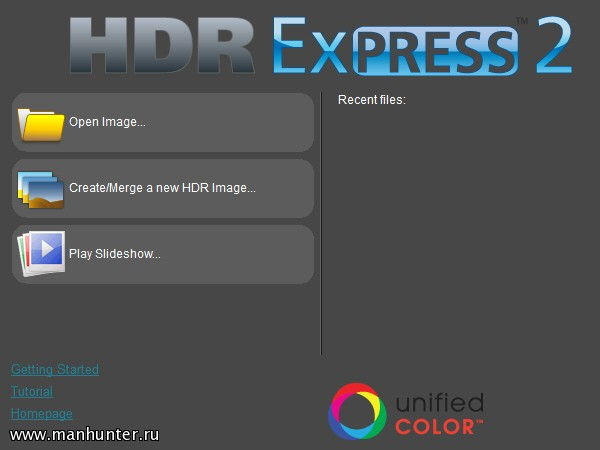 Скриншот программы Unified Color HDR Express