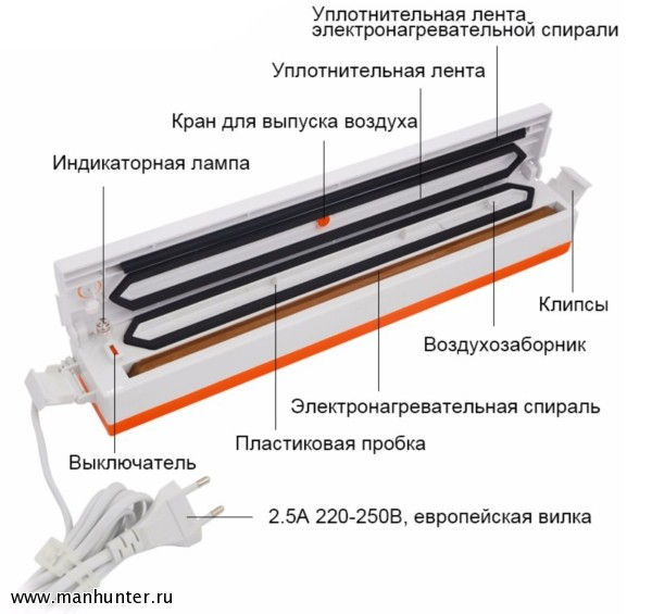 Вакуумный упаковщик TintonLife Freshpack Pro QH-1